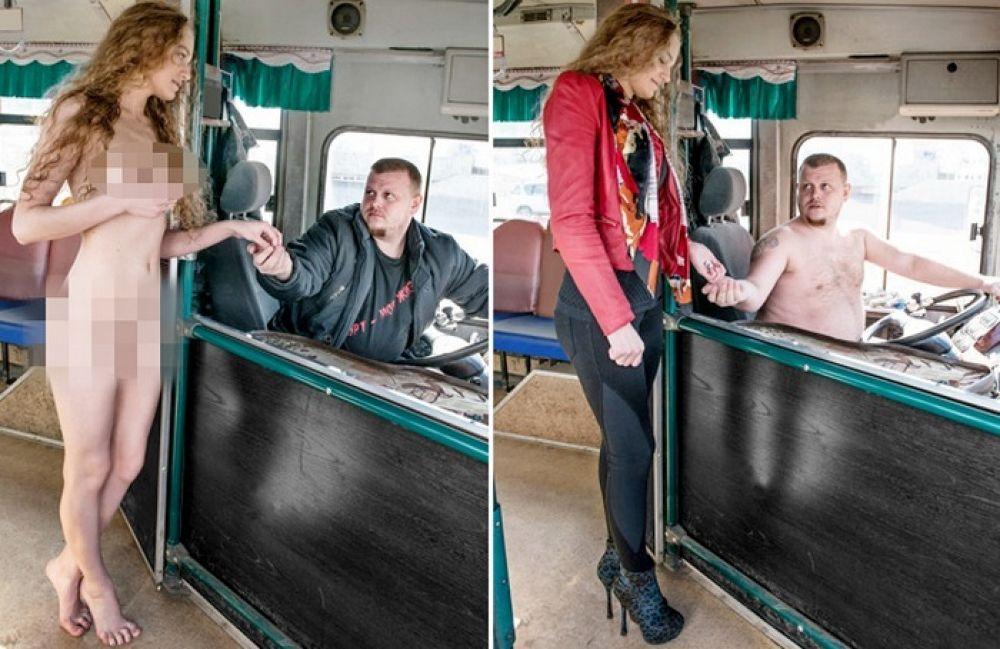 Голые в автобусах фото
