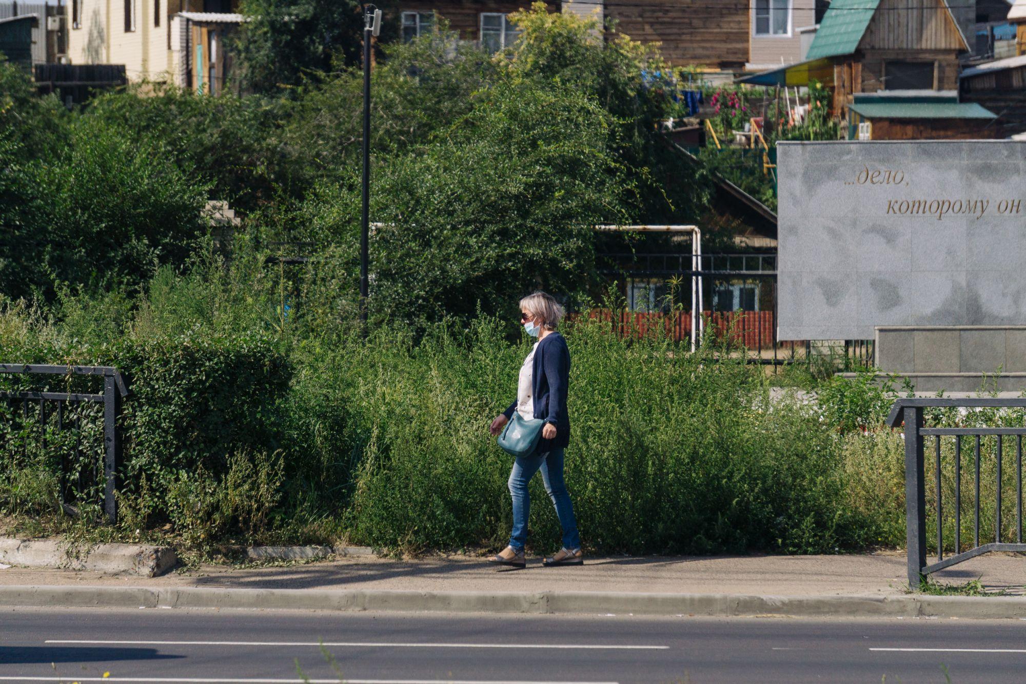 Аллергия и аварийные ситуации: заросли травы заполнили улицы Улан-Удэ