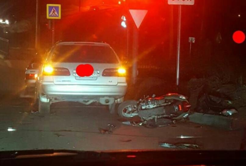 В Улан-Удэ в ДТП пострадал мотоциклист